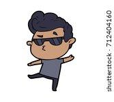cartoon cool guy | Shutterstock .eps vector #712404160