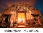 wat ratchaburana temple most... | Shutterstock . vector #712404226