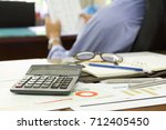 Small photo of Business and finance concept of office working, Businessman discussing analysis analysis chart