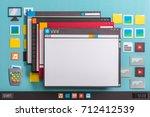 operating system computer... | Shutterstock . vector #712412539