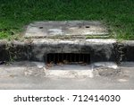 drainage culvert hole system on ... | Shutterstock . vector #712414030