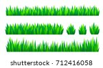 green grass isolated on white... | Shutterstock .eps vector #712416058