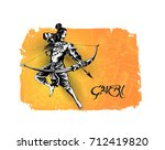 lord rama with arrow killing... | Shutterstock .eps vector #712419820