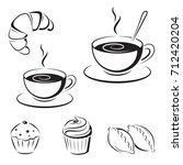 set of black sketches  icons. a ...   Shutterstock .eps vector #712420204