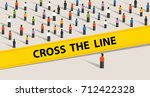 cross the line limit of social... | Shutterstock .eps vector #712422328