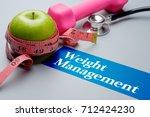weight management  health... | Shutterstock . vector #712424230