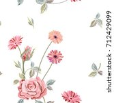 vector square floral seamless... | Shutterstock .eps vector #712429099