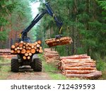 lumberjack with modern... | Shutterstock . vector #712439593
