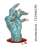 zombie hand  isolated... | Shutterstock .eps vector #712446190