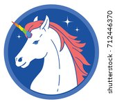 unicorn vector illustration.    Shutterstock .eps vector #712446370