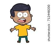 cartoon shocked man | Shutterstock .eps vector #712448200