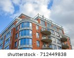 modern condo buildings with... | Shutterstock . vector #712449838