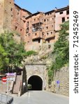 albarracin  spain   august 8th... | Shutterstock . vector #712452469