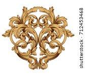 baroque vector of vintage... | Shutterstock .eps vector #712453468