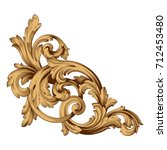 baroque vector of vintage... | Shutterstock .eps vector #712453480