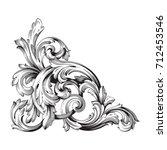 baroque vector of vintage...   Shutterstock .eps vector #712453546