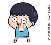 cartoon man staring | Shutterstock .eps vector #712454353