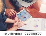business meetings  documents ...   Shutterstock . vector #712455670