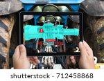 industrial 4.0   augmented... | Shutterstock . vector #712458868