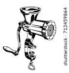 meat grinder vector...   Shutterstock .eps vector #712459864
