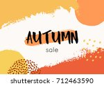 abstract autumn design with... | Shutterstock .eps vector #712463590