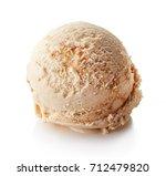 caramel ice cream ball isolated ... | Shutterstock . vector #712479820