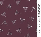 inflorescence dill. vector... | Shutterstock .eps vector #712480300