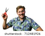 funny retro man with mustache... | Shutterstock . vector #712481926