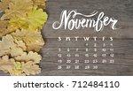 yellow tree autumn leaves frame ... | Shutterstock . vector #712484110