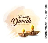 diwali or deepavali greetings... | Shutterstock .eps vector #712484788