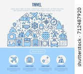travel and vacation concept in... | Shutterstock .eps vector #712487920