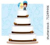 chocolate and cream wedding... | Shutterstock .eps vector #71249446