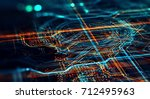 abstract technological... | Shutterstock . vector #712495963