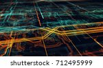 abstract technological... | Shutterstock . vector #712495999