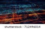 abstract technological... | Shutterstock . vector #712496014