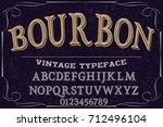font script typeface vector... | Shutterstock .eps vector #712496104