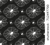 cobweb seamless pattern... | Shutterstock .eps vector #712497700