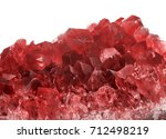 macro photo of red ruby... | Shutterstock . vector #712498219
