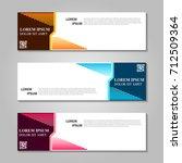 vector abstract design banner... | Shutterstock .eps vector #712509364