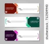 vector abstract design banner... | Shutterstock .eps vector #712509940