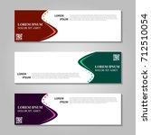 vector abstract design banner... | Shutterstock .eps vector #712510054