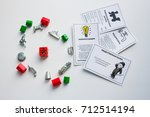 monopoly board game  playing...   Shutterstock . vector #712514194