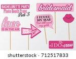 set of printable bachelorette... | Shutterstock .eps vector #712517833