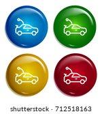 car multi color gradient glossy ...