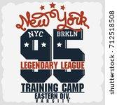 new york brkln sport wear... | Shutterstock .eps vector #712518508