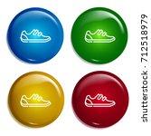 shoe multi color gradient...