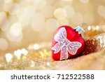 christmas background  new year... | Shutterstock . vector #712522588