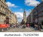 edinburgh  scotland   july 26 ... | Shutterstock . vector #712524784