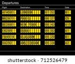 airport departure sign | Shutterstock .eps vector #712526479