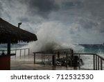 hurricane irma as she passes... | Shutterstock . vector #712532530